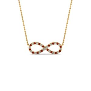 Infinity Necklace With Ruby