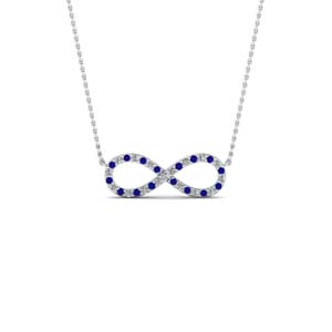 Infinity Sapphire Necklace