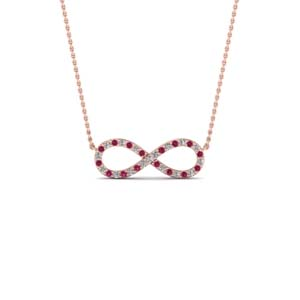 Twisted Pink Sapphire Necklace