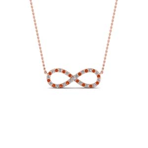 Twisted Necklace With Rose Gold