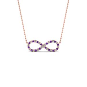 Twisted Purple Topaz Necklace