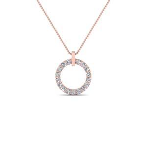 Circular Diamond Necklace For Her