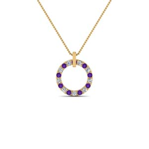 Purple Topaz Necklace For Women