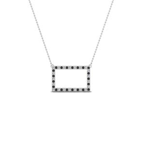 Open Rectangle Necklace