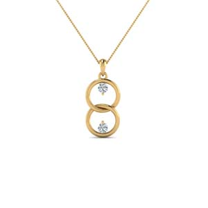 Interlocked Circle Diamond Necklace