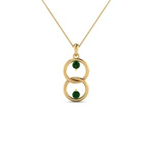 Emerald Gold Necklace Pendant