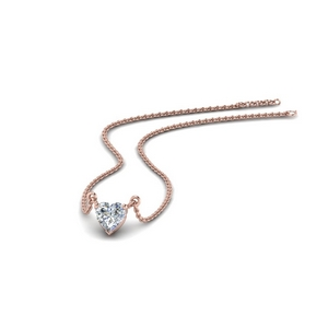 Heart Diamond Pendant 0.50 Ctw.