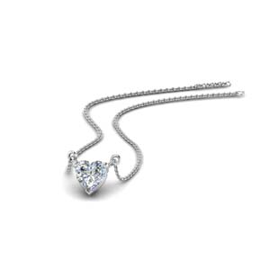 One Carat Heart Diamond Necklace