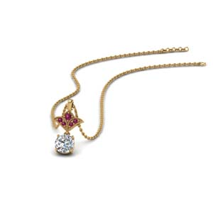 Pink Sapphire Necklaces For Women