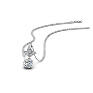 0.75 Carat Antique Pendant For Women
