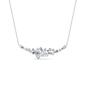 Cluster Diamond Necklace For Women