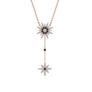 Star Drop Necklace With Black Diamond
