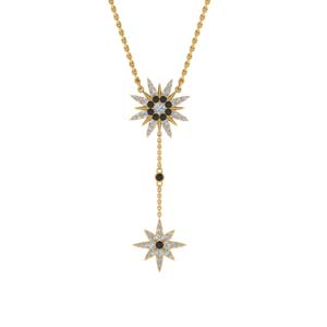 Black Diamond Star Drop Necklace