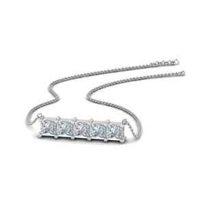 5 Diamond Pendant Necklace