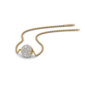 0.50 ct. pave diamond sphere pendant in FDPD8433 NL YG