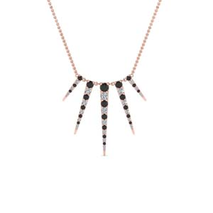Graduated Black Diamond Necklace
