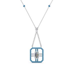 Blue Topaz Necklaces For Women