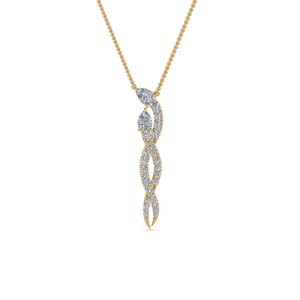 Diamond Twisted Snake Pendant