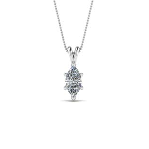 Single Diamond Pendants
