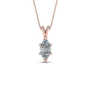 Rose Gold Marquise Necklace