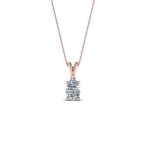 14K Rose Gold 0.25 Ct. Solitaire Pendant