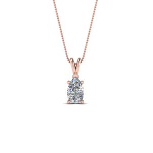 Half Carat Pear Diamond Necklace