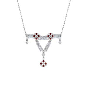 Art Deco Pendant With Ruby