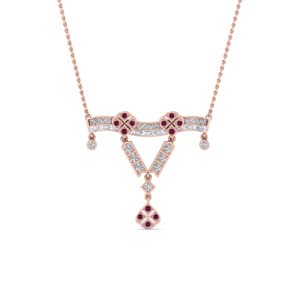 Pink Sapphire Necklace Pendant