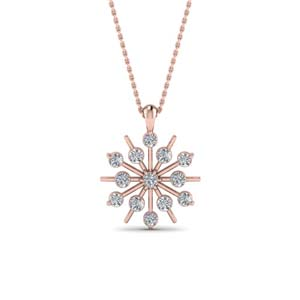 Womens Snowflake Necklace