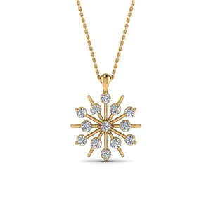 Snowflake Diamond Necklace