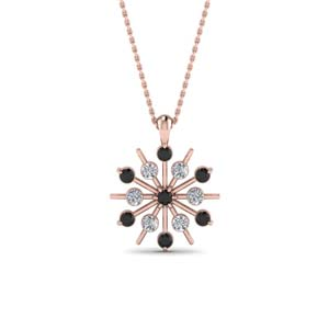 Black Diamond Bezel Set Pendant
