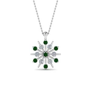 Snowflake Emerald Necklace Gift