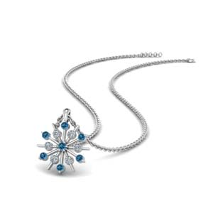 Topaz With Snowflake Fancy Pendant