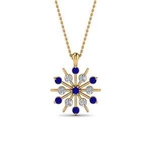 Snowflake Sapphire Necklace