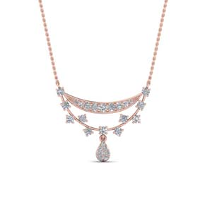 Rose Gold Drop Diamond Pendant