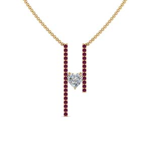 Yellow Gold Pink Sapphire Pendant