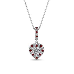 Love Halo Ruby Pendant
