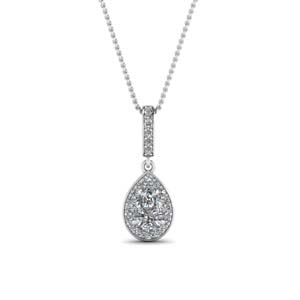 18k White Gold Diamond Pendants