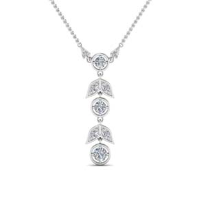 Drop Petal Diamond Necklace