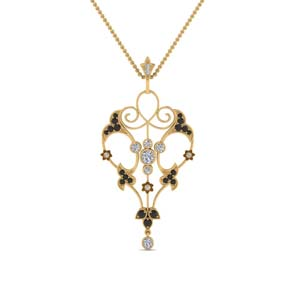 Art Deco Black Diamond Pendant