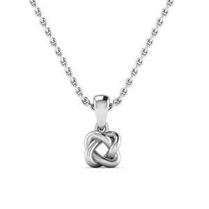 14K White Gold Knot Necklace