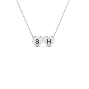 Initial Heart Necklace Gift