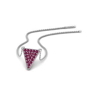 Cluster Pendant Pink Sapphire