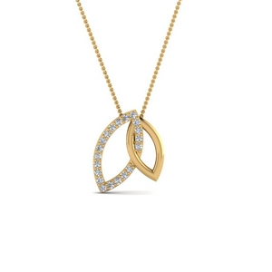 Double Marquise Interlocked Pendant