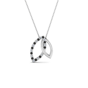 Black Diamond Linked Pendant