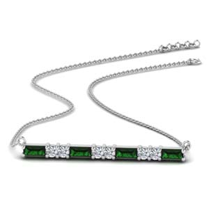 Emerald Bar Pattern Necklace