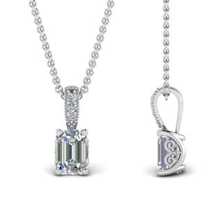1 Ct. Diamond Necklace In White Gold
