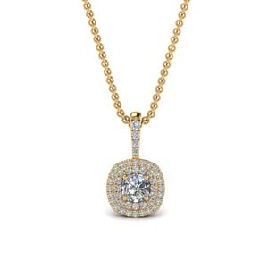 0.75 Ct. Cushion Diamond Pendant