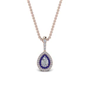 Half Carat Halo Pendant Necklace