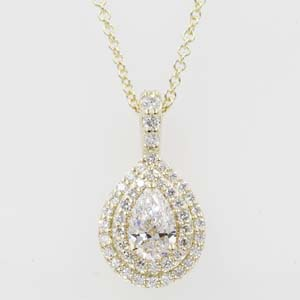 0.70 Carat Diamond Halo Pendant